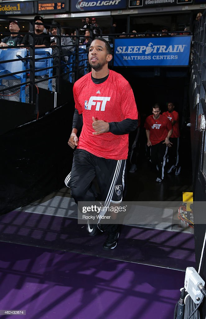 Darius Morris of the Brooklyn Nets exits out of the tunnel prior to the game against the Sacramento Kings on January 21 2015 at Sleep Train Arena in...