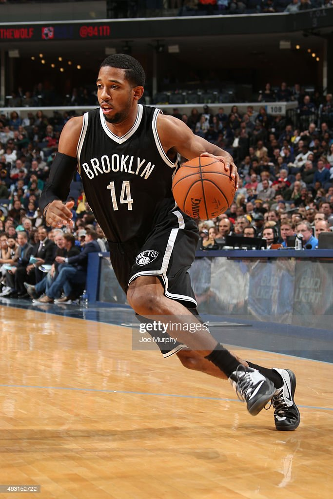 Darius Morris of the Brooklyn Nets handles the ball against the Memphis Grizzlies on February 10 2015 at FedExForum in Memphis Tennessee NOTE TO USER...