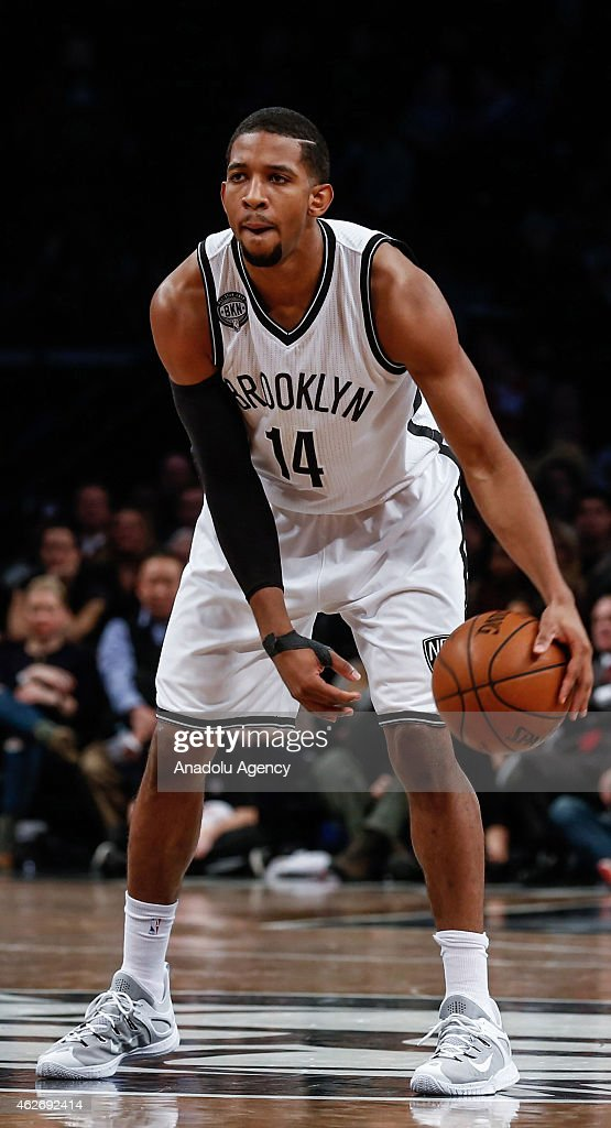 Darius Morris of the Brooklyn Nets in action during match against Los Angeles Clippers at the Barclays Center on February 2 2015 in Brooklyn New York