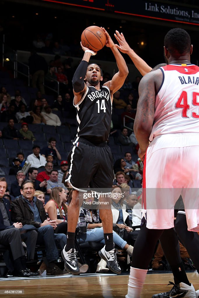 Darius Morris of the Brooklyn Nets shoots against the Washington Wizards on February 7 2015 at Verizon Center in Washington DC NOTE TO USER User...