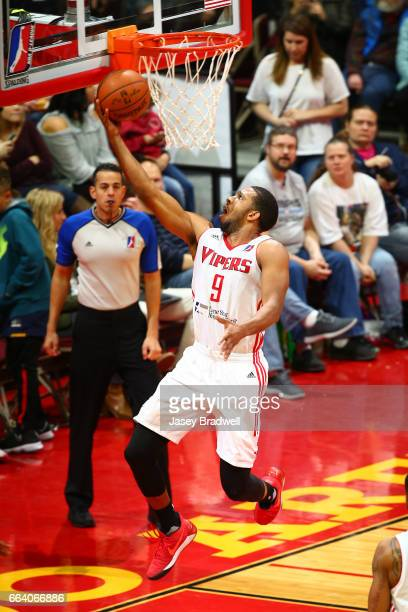 Darius Morris of the Rio Grande Valley Vipers drives to the basket against the Iowa Energy in an NBA DLeague game on April 1 2017 at the Wells Fargo...