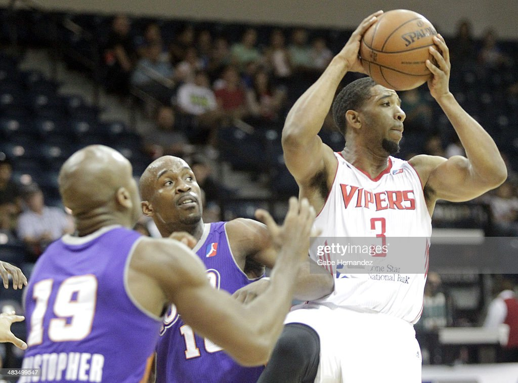 Darius Morris #3 of the Rio Grande Valley Vipers passes the ball against the Iowa Energy on April 8, 2014 during game one first round of the 2014 NBA-Development League playoffs at the State Farm Arena in Hidalgo, Texas.