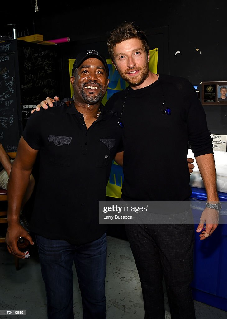 Darius Rucker and Brett Eldredge attend the 6th Annual 'Darius And Friends' Concert at Wildhorse Saloon on June 8 2015 in Nashville Tennessee