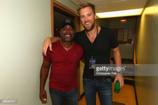 Darius Rucker and Charles Kelley attend the Fifth annual 'Darius and Friends' concert at Wildhorse Saloon on June 2 2014 in Nashville Tennessee