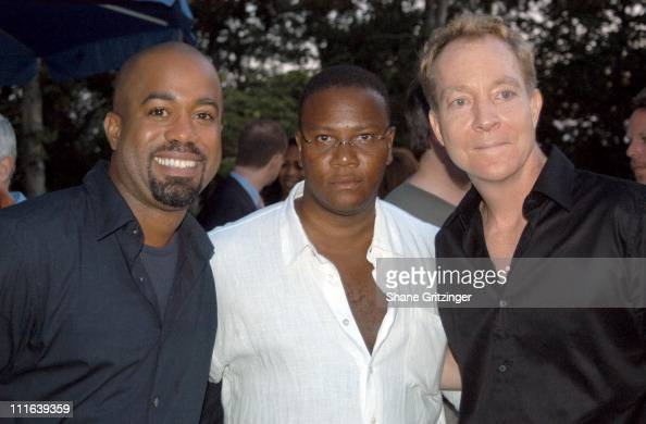 Darius Rucker Morris L Reid and Fred Schneider during VH1 Save the Music Foundation Benefit at Home of Jaci Wilson and Morris L Reid in East Hampton...