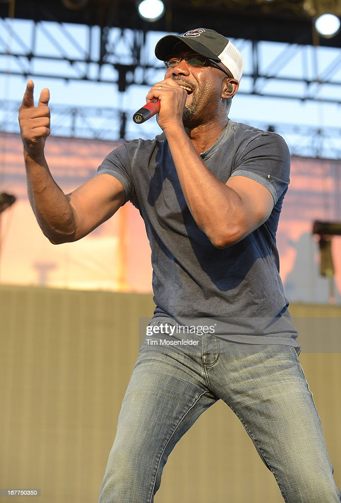 Darius Rucker performs as part of the Stagecoach Music Festival at the Empire Polo Grounds on April 28, 2013 in Indio, California.