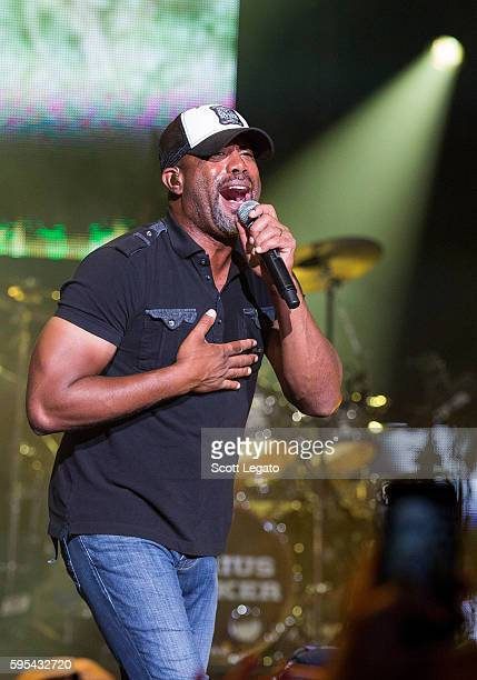 Darius Rucker performs in support of his Good For a Good Time Tour 2016 at DTE Energy Music Theater on August 25 2016 in Clarkston Michigan