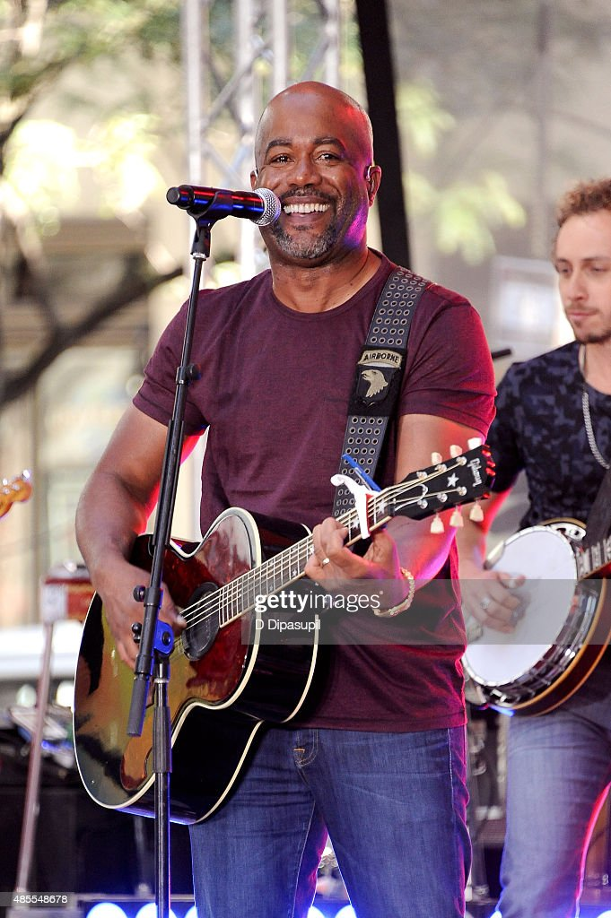 Darius Rucker performs on NBC's 'Today' at Rockefeller Plaza on August 28 2015 in New York City