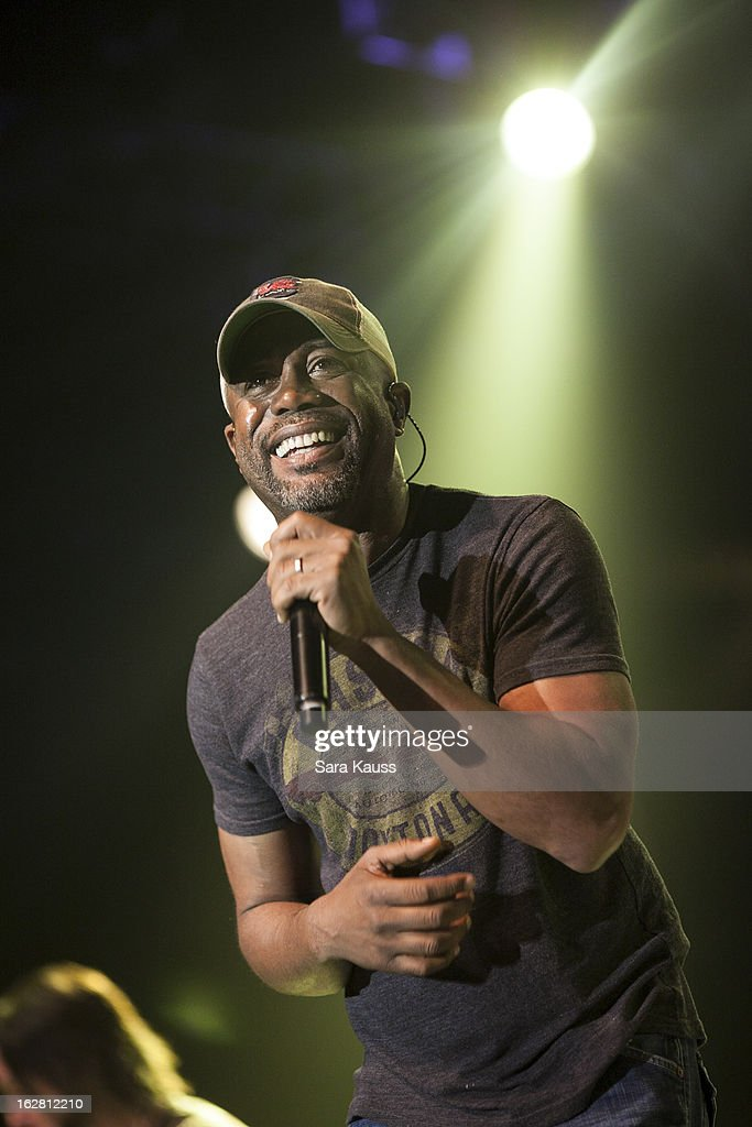 Darius Rucker performs onstage during CRS 2013 on February 27 2013 at the Grand Ole Opry in Nashville Tennessee