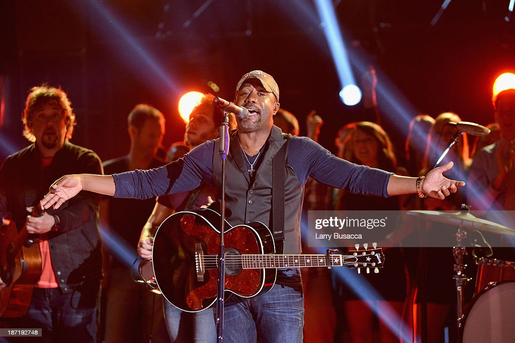 Darius Rucker performs onstage during the 47th annual CMA Awards at the Bridgestone Arena on November 6 2013 in Nashville Tennessee
