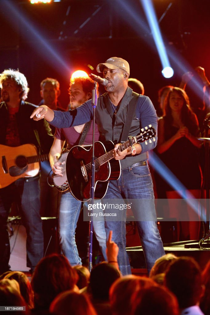 Darius Rucker performs onstage during the 47th annual CMA Awards at the Bridgestone Arena on November 6, 2013 in Nashville, Tennessee.