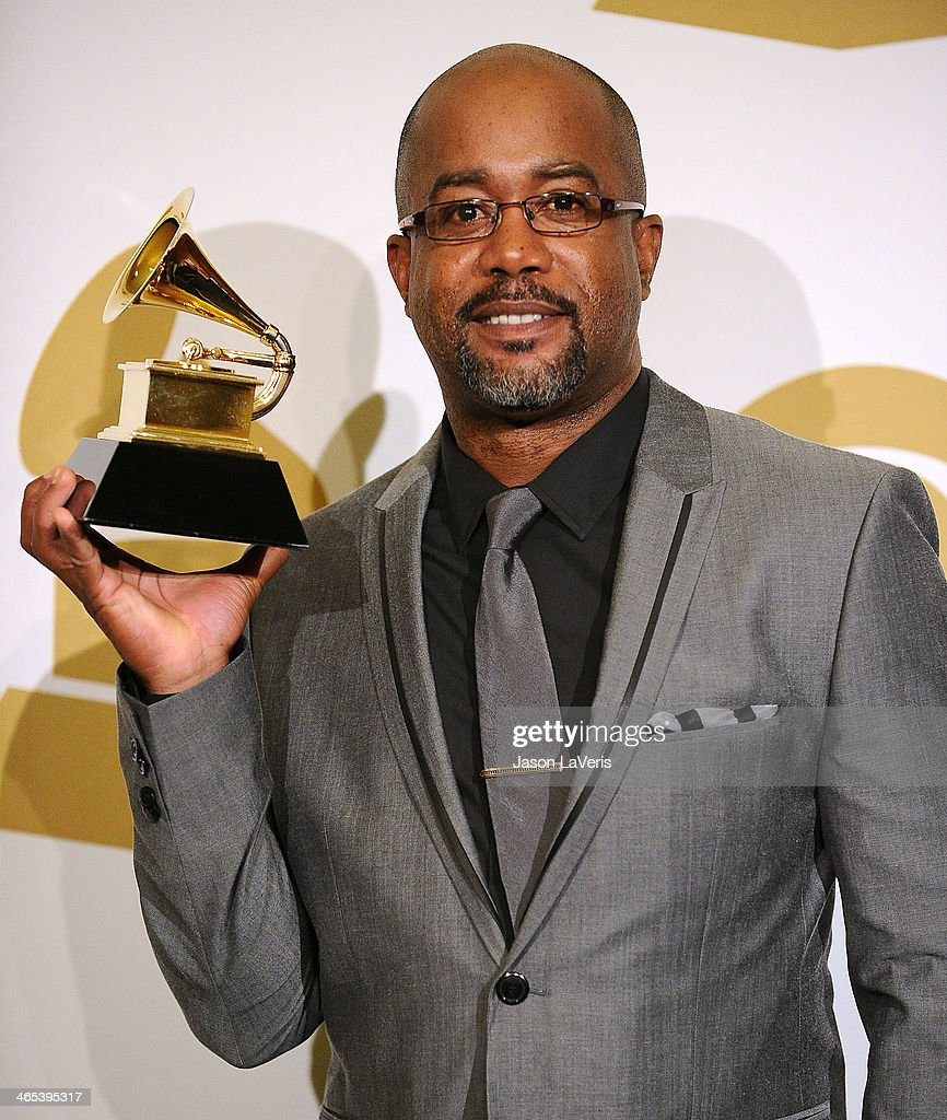Darius Rucker poses in the press room at the 56th GRAMMY Awards at Staples Center on January 26 2014 in Los Angeles California