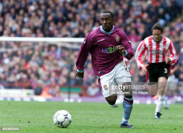 Darius Vassell of Aston Villa in action during the match between Aston Villa and Southampton at Villa Park THIS PICTURE CAN ONLY BE USED WITHIN THE...