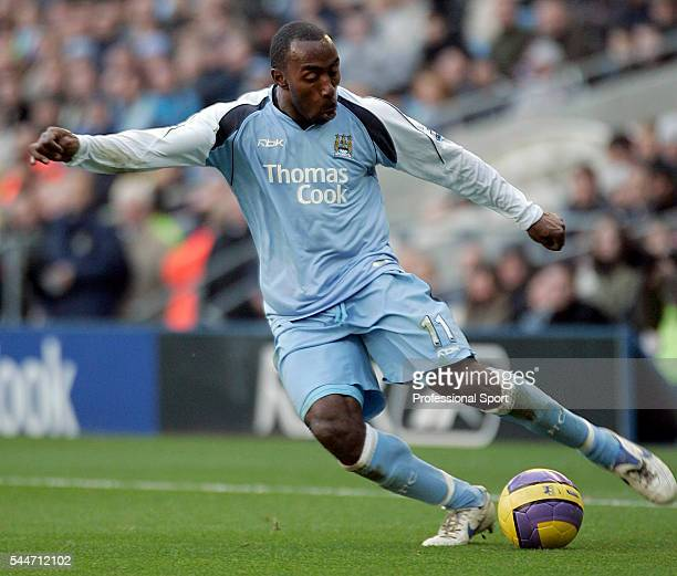 Darius Vassell of Manchester City in action during the FA Premier League match between Manchester City and Fulham at the City of Manchester Stadium...