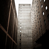 Dark Abandoned Building Architecture in East Berlin