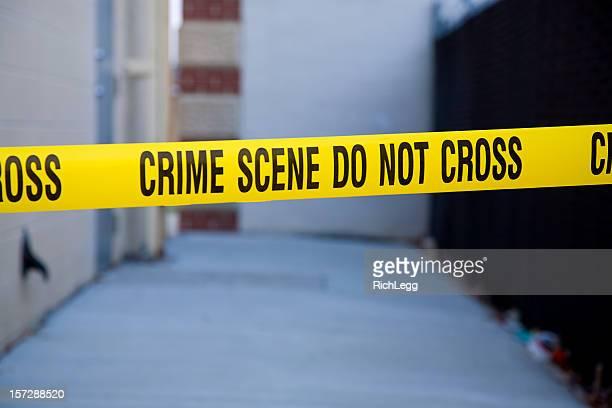 Dark Alley Crime Scene