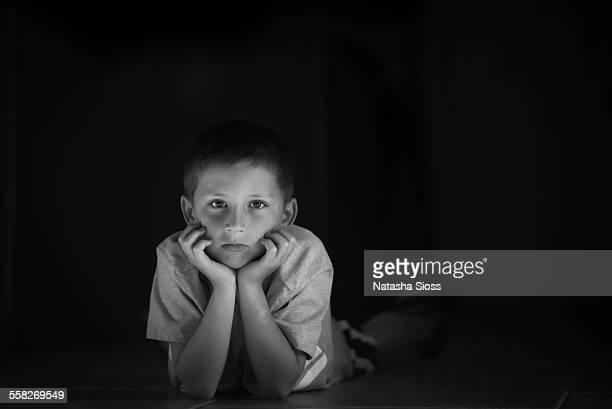 Dark and Moody Portrait of a Boy