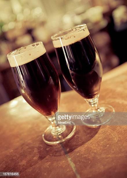 Dark beers at the pub