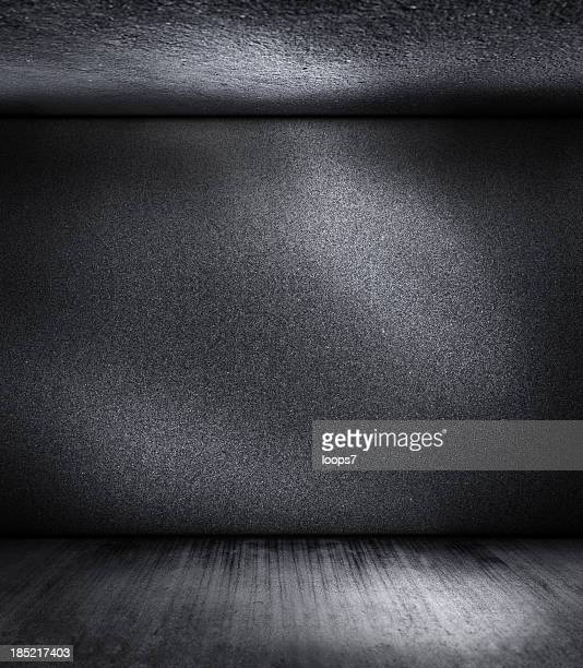 dark black room