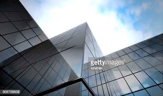 dark blue  glass surface : Stock Photo