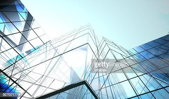 Superfície de Vidro Azul escuro : Foto de stock