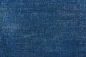 Dark blue jeans surface texture background close up