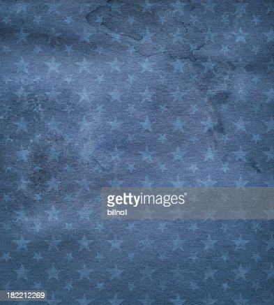 High resolution dark blue stained paper with stars