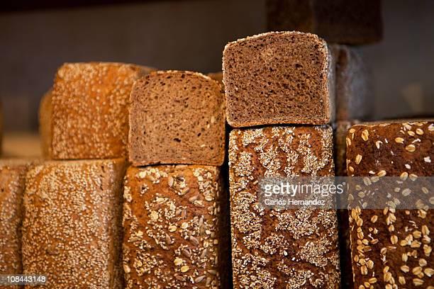 Dark bread with grains