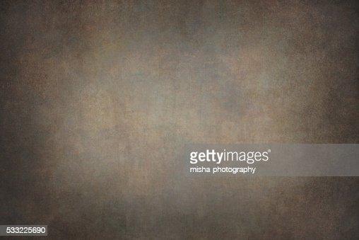 Marrón oscuro lona telón de fondo pintado a mano : Foto de stock