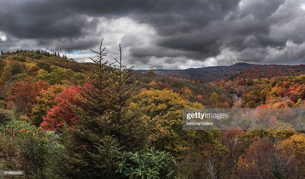 Dark Clouds Above Graveyard Fields : Stock Photo
