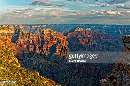 Dark clouds gather over the Grand Canyon. : Stock Photo
