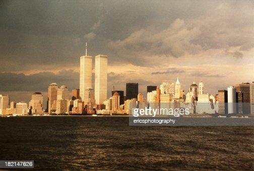 Dark clouds over New York City