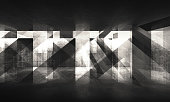 Abstract grungy background with dark concrete pattern. 3d render illustration
