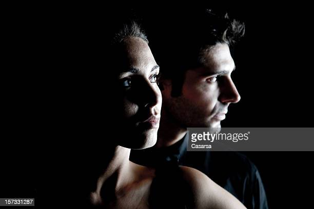 Dark couple portrait