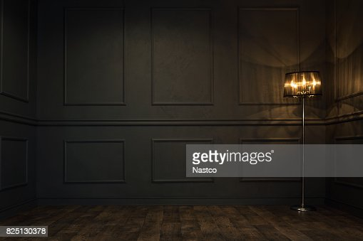 Dark empty room : Stock Photo
