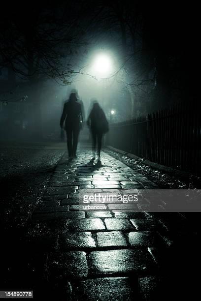 Dark foggy alley