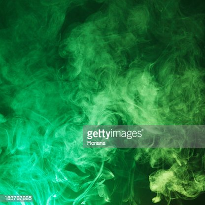 Dark Green smoke cloud background