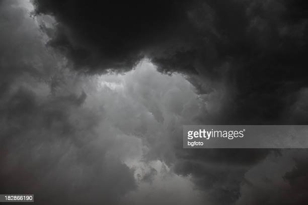 Dark grey storm clouds with limited light