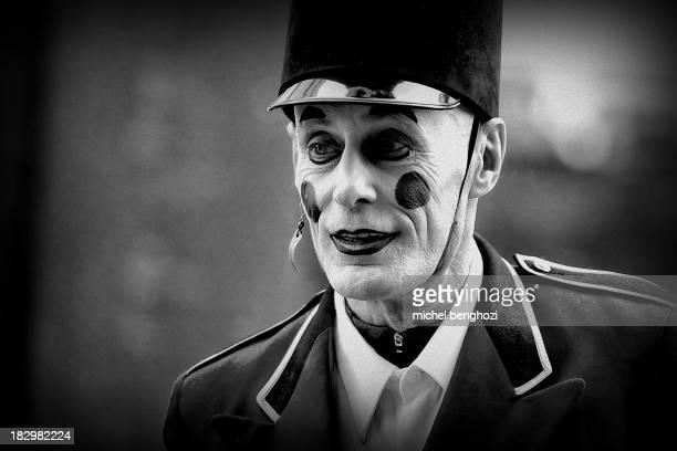 CONTENT] A dark man during Christmas parade