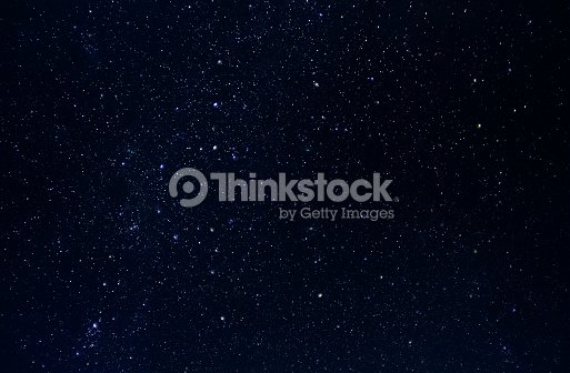 Dark night sky with plenty of stars as background : Stock Photo