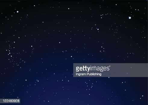 Dark nights sky with bright stars ideal background : Stock Photo
