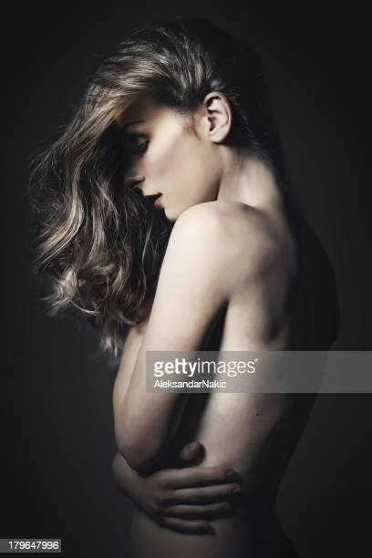 Dark portrait of a beauty