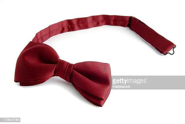 Dark Red tie on white background