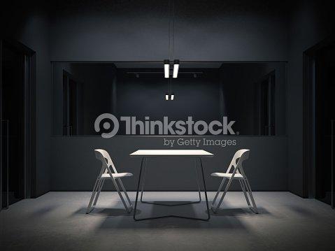 Dunklen Raum Zum Verhör 3drendering Stock Foto Thinkstock