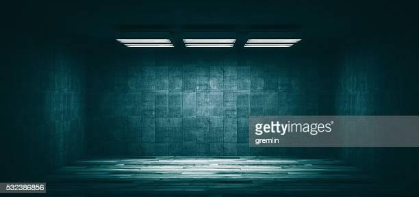 Dark, spooky, empty office room