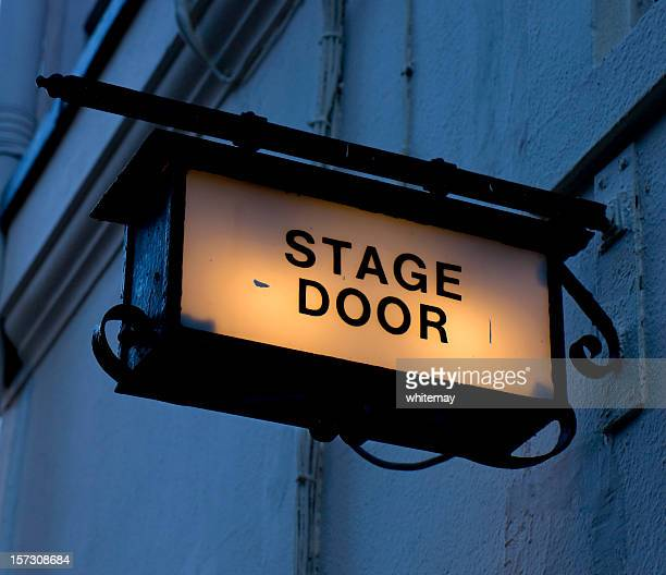 Dark stage door