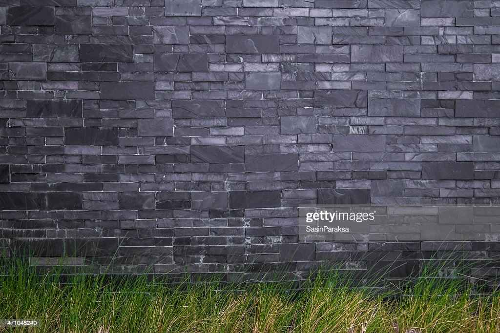 dark stone tile texture. Dark stone tile with green grass texture  Stock Photo Stone Tile With Green Grass Texture Getty Images