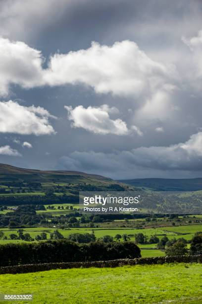 Dark storm clouds over the Yorkshire Dales, England