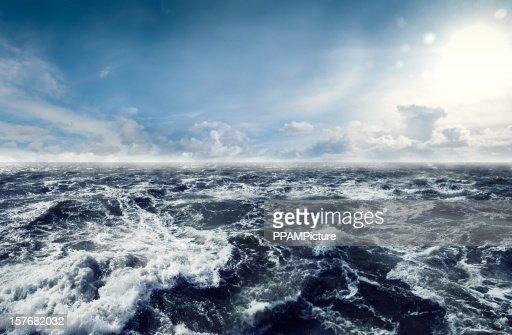 Dark stormy Sea Waters