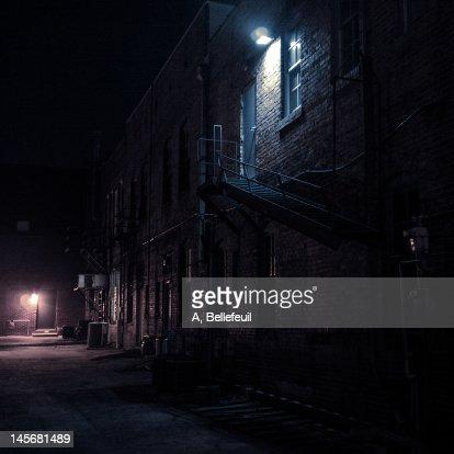 Dark street : Stock Photo